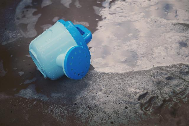 Toys, Sand Pit, Sand, Watering Can, Children Watering