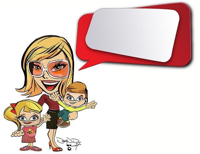 Cartoon, Children Woman, Family, Mother, Girl, Daughter
