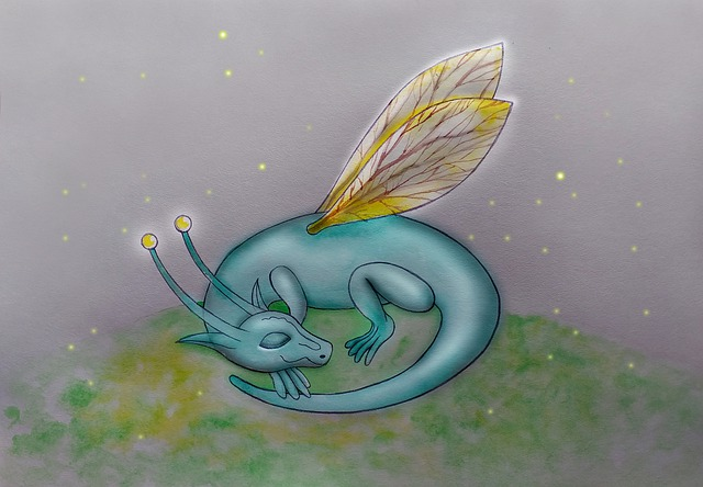 Dragon, Wings, Nicely, Dream, Children's Book
