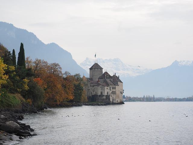 Chillon Castle, Castle, Chillon, Veytaux, Wasserburg
