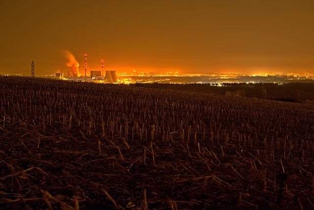 Photo Night, Chimneys, Power Station