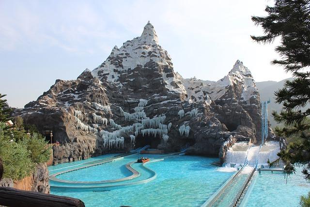 Amusement Park, The Roller Coaster, Rockery, China