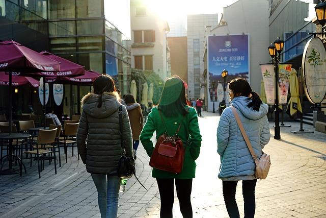 Asia, China, Shanghai, Park, Street Photography, Girls