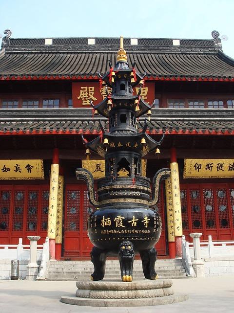 China, Incense Burner, Qixia Temple, Temple