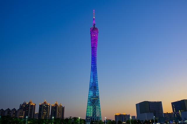 Canton Tower, Twilight, Night View, China, Evening
