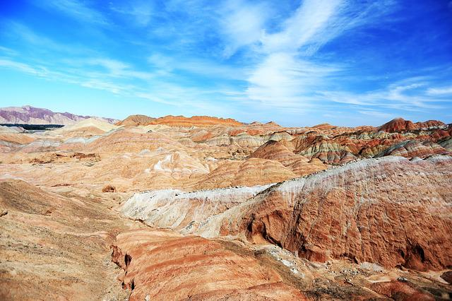 Colorful, Zhangye, Views, China