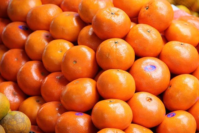 Bangkok, Thailand, Chinatown, Oranges, Market, Fruit