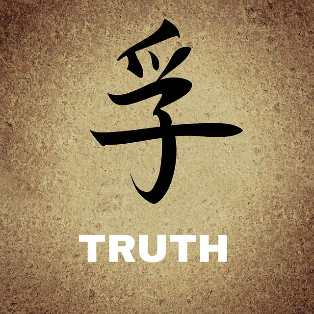 Chinese, Characters, Background, Truth