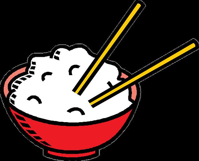 Rice, Chopsticks, Bowl, Food, Chinese, Dish, Asian