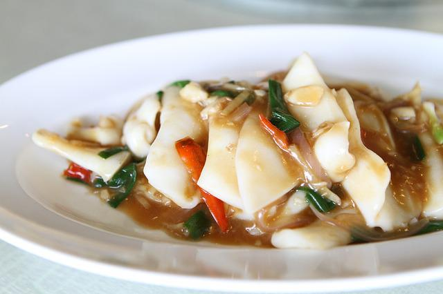 Stir Fried Squid, Chinese Dishes, Food