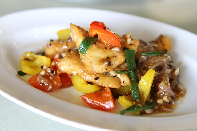 Fried Fish With Sweet Peppers, Fish, Food, Chinese Food