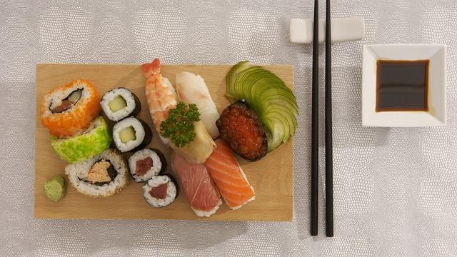 Sushi, Plateau, Kitchen, Chinese, Shrimp, Lobster