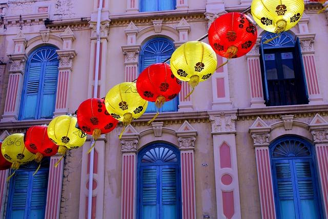 Chinatown, Singapore, Chinese New Year Celebration