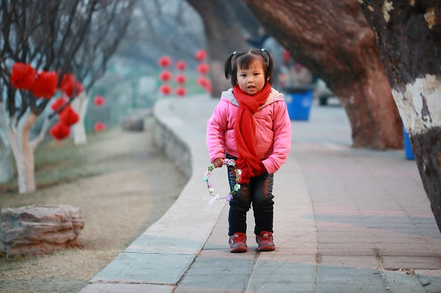 Beijing, Girls, Chinese New Year, Festivity, New Year