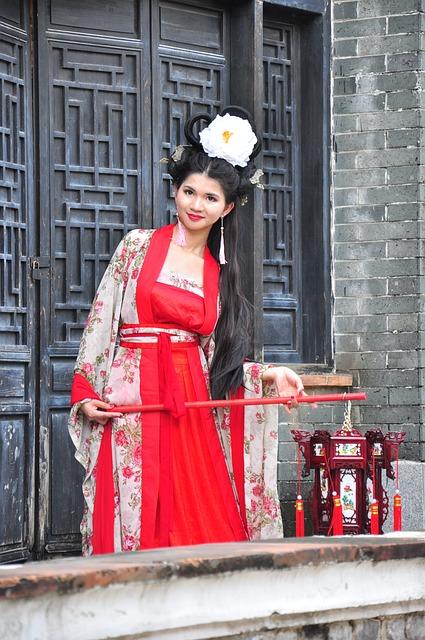 Chinese Woman, Chinese Woman With Lantern