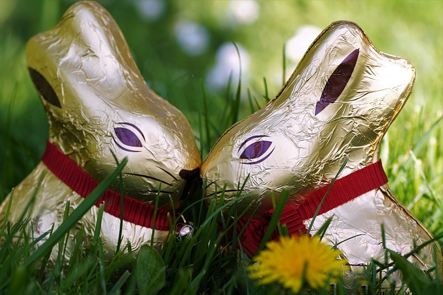 Chocolate, Bunny Girl, Easter, In The Grass