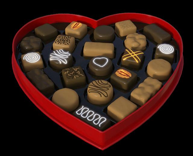 Heart, Chocolates, Gift, Packaging, Chocolate