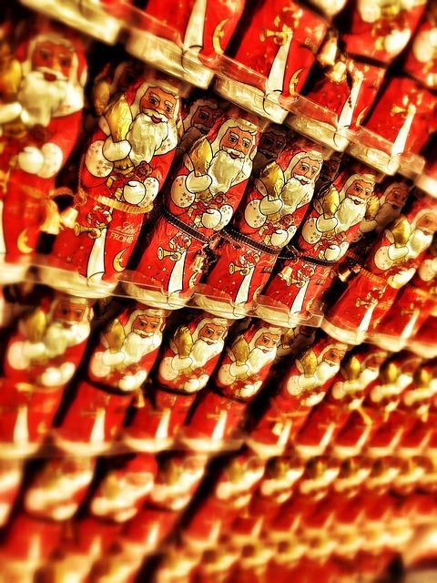 Santa Claus, Chocolate, Sweet, Treat, Christmas