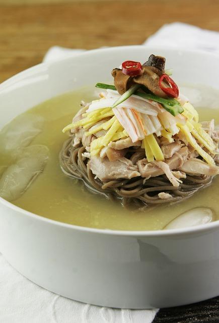 Soup, Korean, Food, Noodle Soup, Chogetang, Noodles