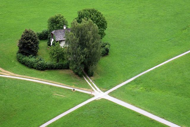 House, Crossroads, Junction, Road, Decision, Choice