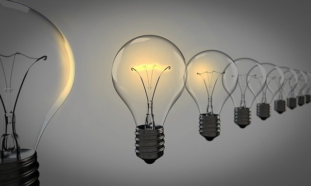 Light Bulbs, Chosen, Bulb, Light, Group, Idea, Choice