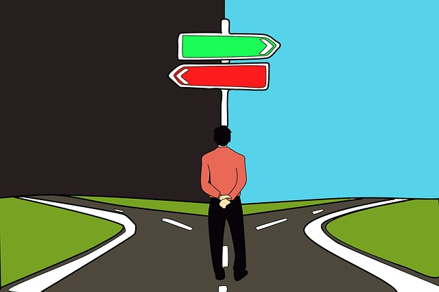 Decision, Choice, Path, Road, Right And Wrong