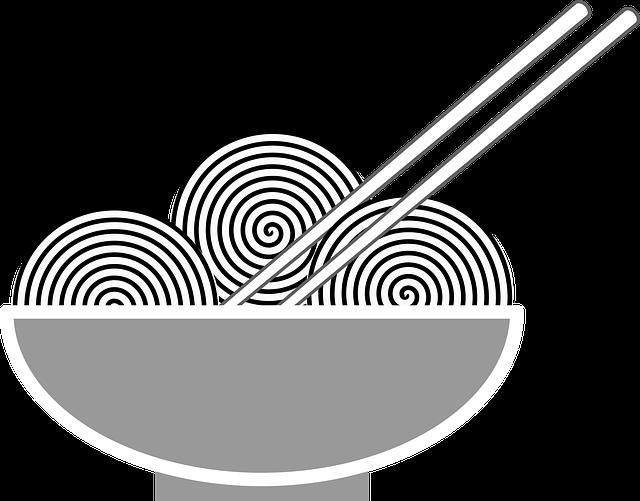 Nutrition, Food, Bol, Chinese Food, Icon, Chopsticks