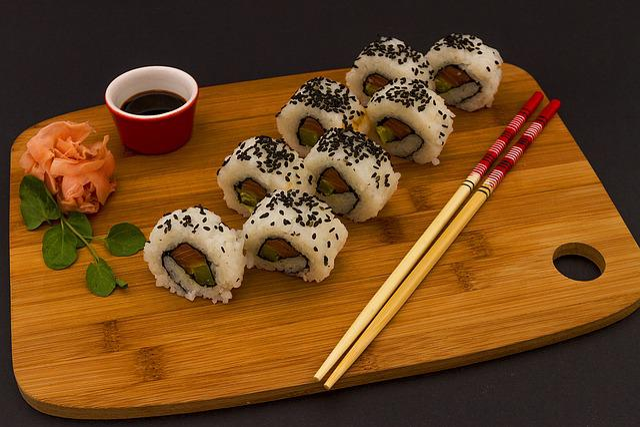 Food, Rice, Soy, Chopsticks, Salmon, Japanese