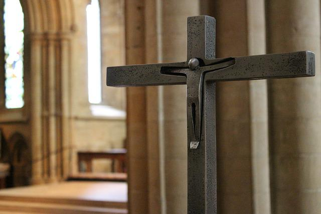 Cross, Crucifix, Christ, Cathedral, Jesus, Faith, God