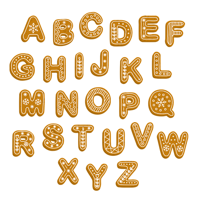 Gingerbread, Letters, Alphabet, Christmas, Xmas
