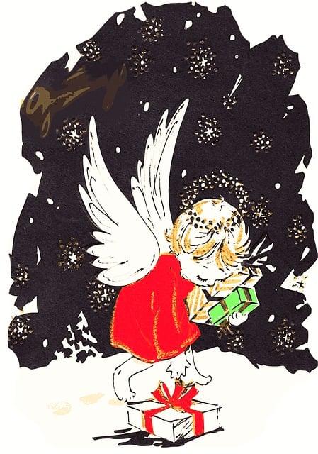 Angel, Christmas Angel, Christmas Night, Gifts