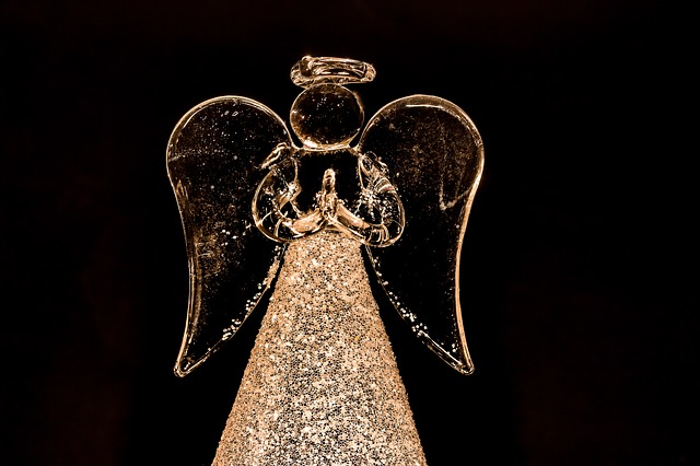 Christmas Angel, Angel, Wing, Figure Out Glass