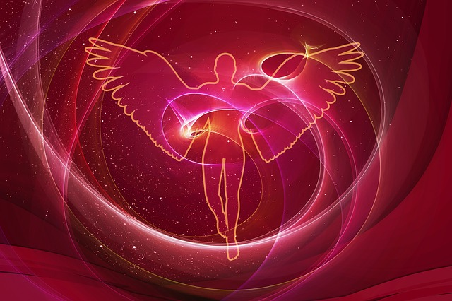 Angel, Christmas, Background, Particles, Vibration
