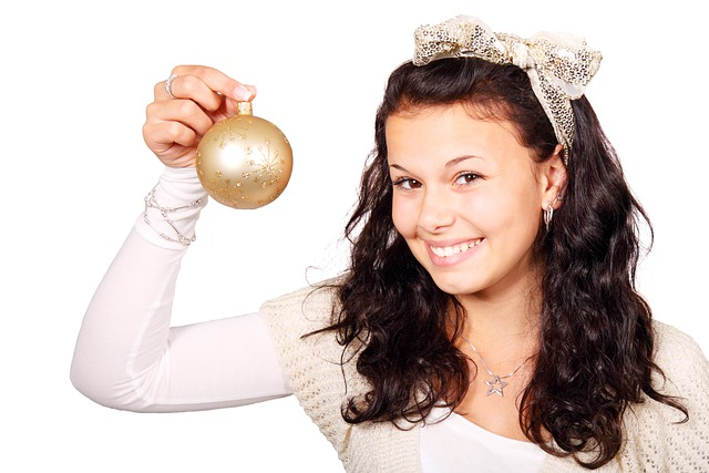Ball, Bauble, Christmas, Decoration, Female, Girl