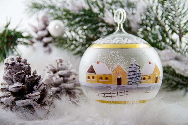 Christmas, Christmas Ball Painted