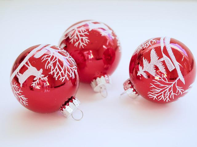 Christmas, Bauble, Red, Christmas Decoration
