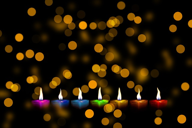 Christmas, Candles, Colorful, Color, Series