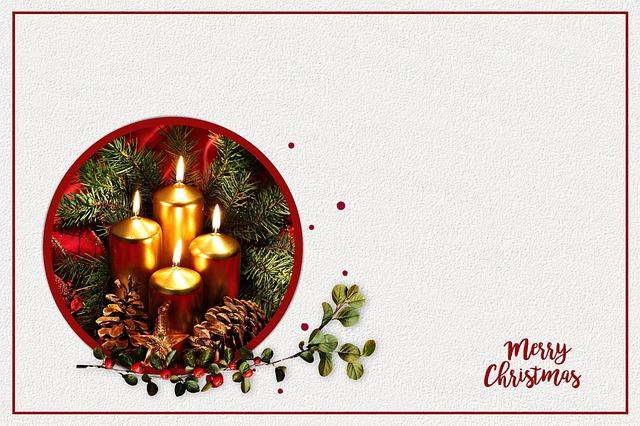 Christmas Card, Christmas, Map, Candles