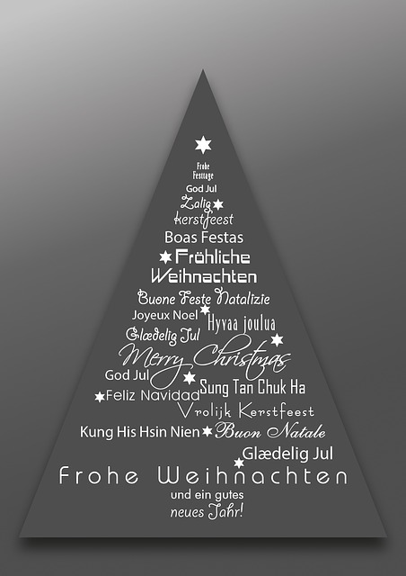 Christmas, Christmas Different Languages