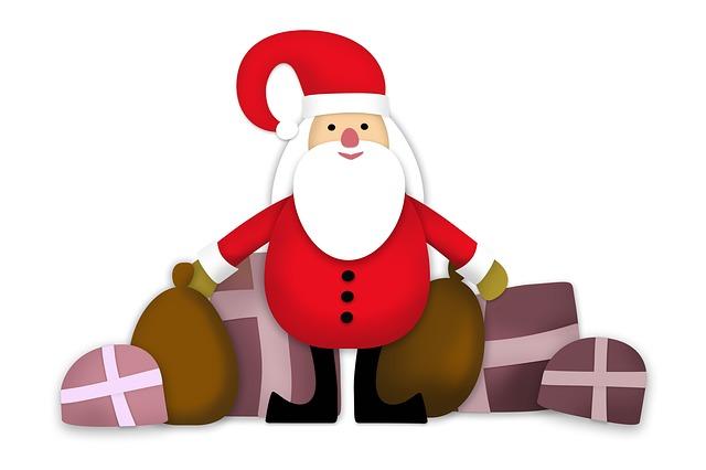 Christmas Gift, Santa Claus, Christmas, Brownie