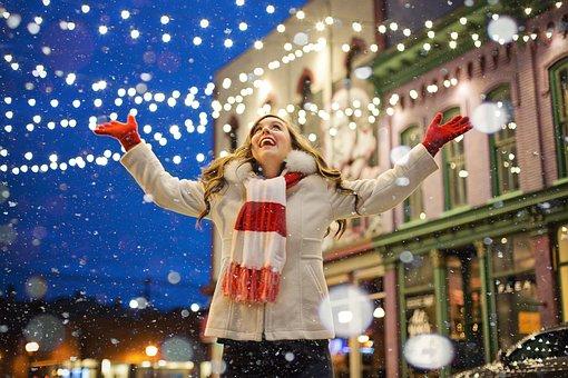 Christmas, Lights, Snow, Christmas Lights, Holiday
