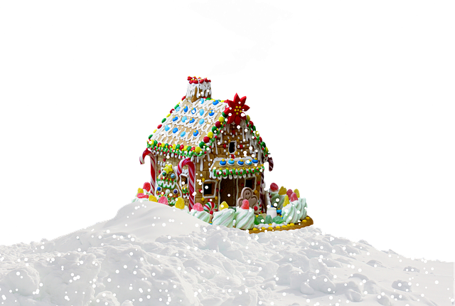 Christmas, Gingerbread House, Snow, Christmas Time