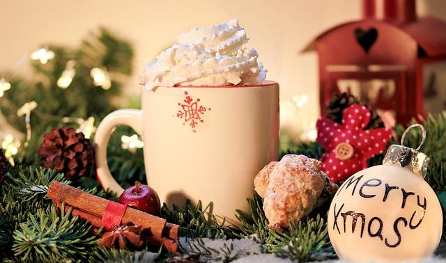 Christmas, Merry Xmas, Cocoa, Donut, Cinnamon Stick