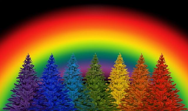 Christmas, Colorful, Rainbow Colors, Advent