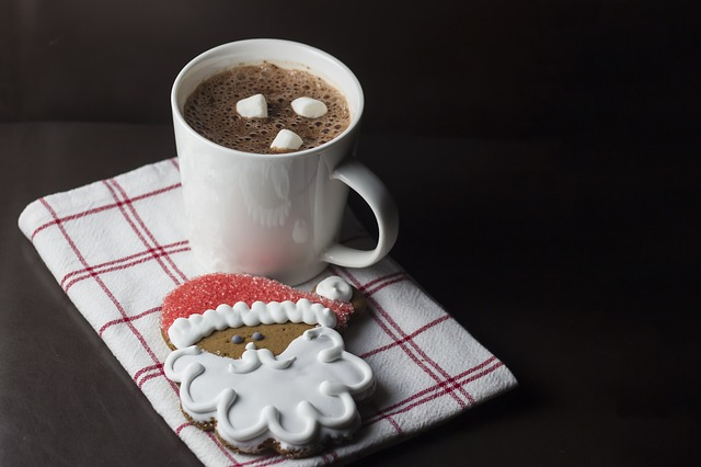 Christmas, Santa, Cookie, Cup, Hot, Chocolate