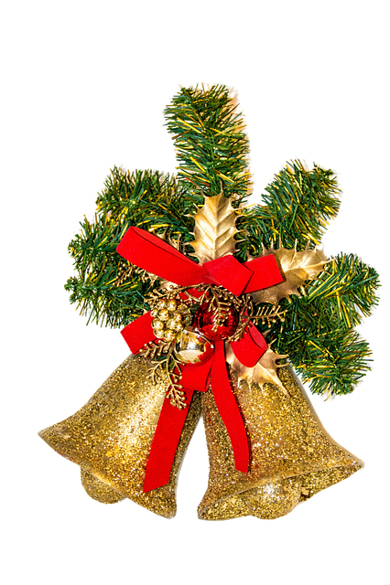 Christmas, Deco, Bells, Golden