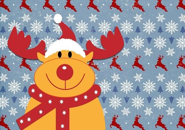 Rudolph, Reindeer, Christmas, Happy, Cute, Deer