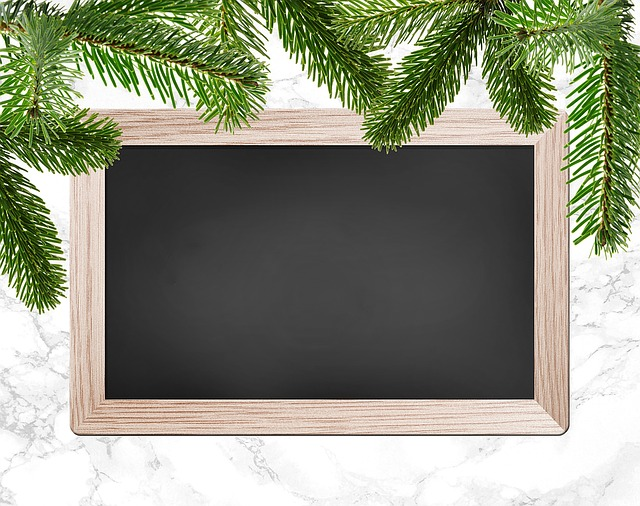 Christmas Party, Christmas Dinner, Chalkboard