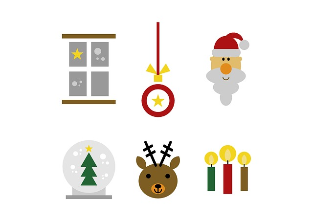 Set, Christmas, Fig, Clip Art, Graphic, Window, Snow