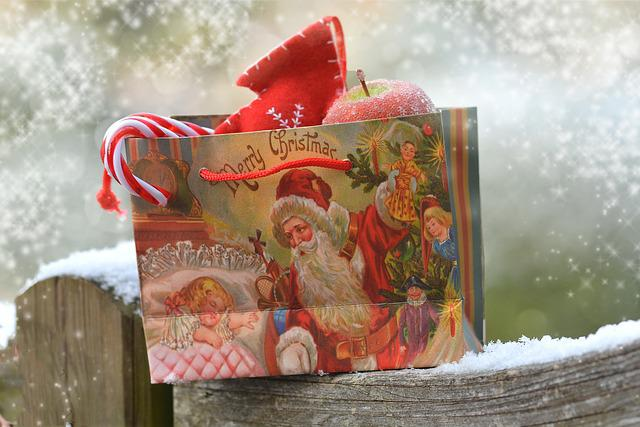 Snow, Christmas, Bag, Santa Claus, Gift